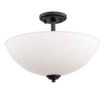 Z-Lite 314SF-BRZ - 3 Light Semi-Flush Mount