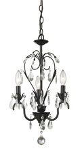 Z-Lite 418BK - 3 Light Mini Chandelier