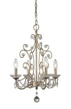 Z-Lite 420AS - 4 Light Mini Chandelier