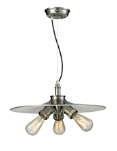 Innovations Lighting 210-SN - Bare Bulb 3 Light Spun Shade Chandelier