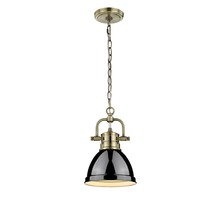 Golden 3602-M1L AB-BK - Mini Pendant with Chain