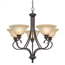Golden 6005-5 RBZ - 5 Light Chandelier
