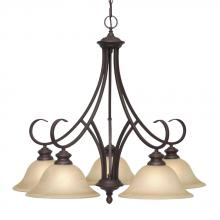 Golden 6005-D5 RBZ - 5 Light Nook Chandelier