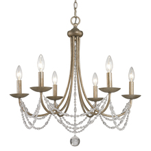 Golden 7644-6 GA - 6 Light Chandelier