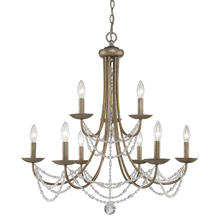 Golden 7644-9 GA - 2 Tier - 9 Light Chandelier