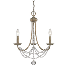 Golden 7644-M3 GA - 3 Light Mini Chandelier