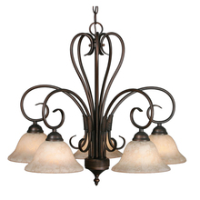 Golden 8606-D5 RBZ-TEA - 5 Light Nook Chandelier