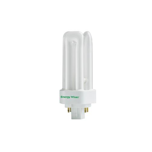 Bulbrite CF18T830/E 18 Watt Dimmable Compact Fluorescent T4 Triple Tube, 4-Pin GX24Q-2 Base, Soft Wh