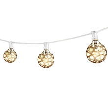 Bulbrite 810052 - Bulbrite STRING15/E12/WHITE-G16MAR-KT Outdoor Mini String Light w/Incandescent G16 Marble Etched Bul