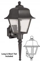 Wave Lighting 220SL-G13-BK - TRADITIONAL WALL MOUNT, SHORT & LONG TAIL
